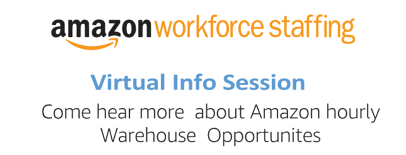 Amazon Workforce Staffing Virtual Info Session